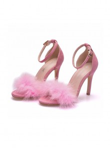 Feather Sexy Thin High Heel Sandals