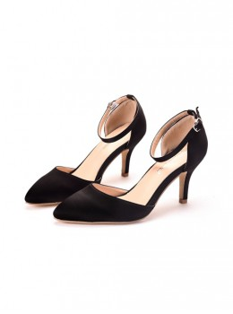 Satin Pointed-toe High Heel Shoes